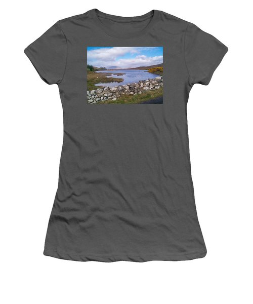 View From Quiet Man Bridge Oughterard Ireland Women's T-Shirt (Athletic Fit)
