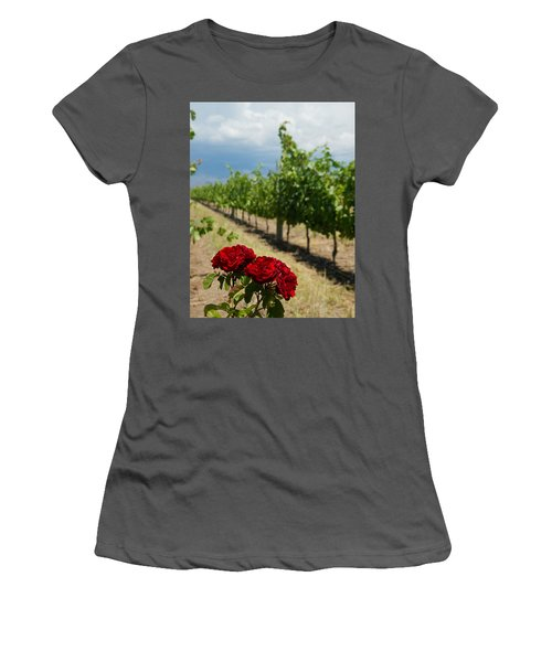 Vineyard Rose Women's T-Shirt (Athletic Fit)