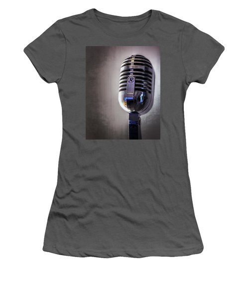 Vintage Microphone 2 Women's T-Shirt (Athletic Fit)