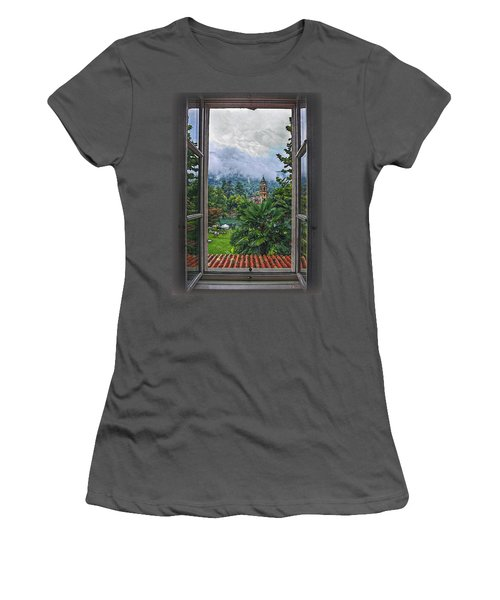Women's T-Shirt (Junior Cut) featuring the photograph Vision Through The Window by Hanny Heim