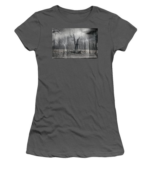 Visitor In The Woods Women's T-Shirt (Athletic Fit)