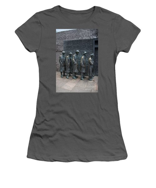 Waiting In Line Women's T-Shirt (Athletic Fit)