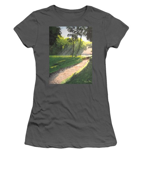 Walk Into The Light Women's T-Shirt (Athletic Fit)