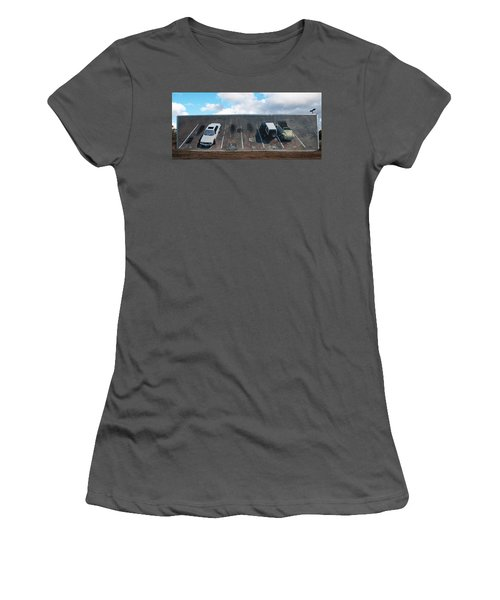 Wall Grabbers Women's T-Shirt (Junior Cut) by Blue Sky