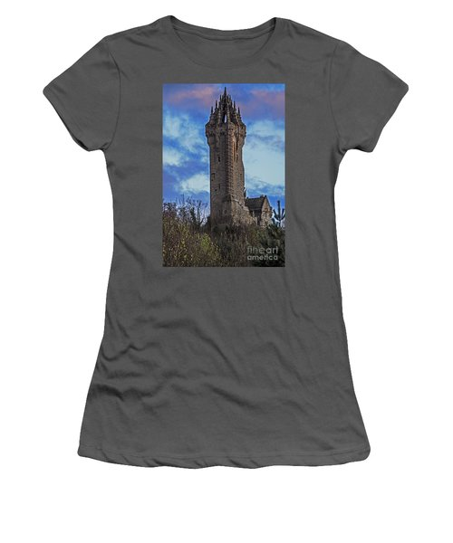 Wallace Monument During Sunset Women's T-Shirt (Athletic Fit)