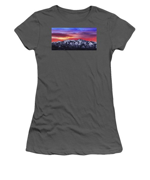 Wasatch Sunrise 2x1 Women's T-Shirt (Athletic Fit)