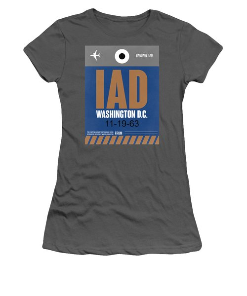 Washington D.c. Airport Poster 4 Women's T-Shirt (Athletic Fit)