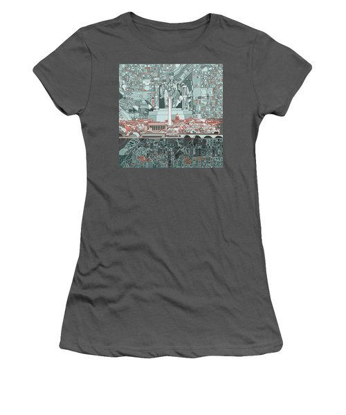 Washington Dc Skyline Abstract Women's T-Shirt (Athletic Fit)