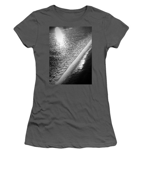 Women's T-Shirt (Junior Cut) featuring the photograph Water And Light by Photographic Arts And Design Studio