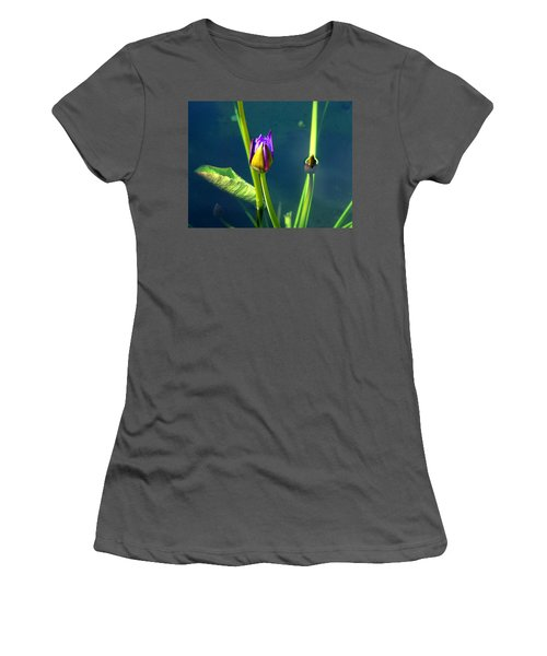 Water Lily 005 Women's T-Shirt (Athletic Fit)