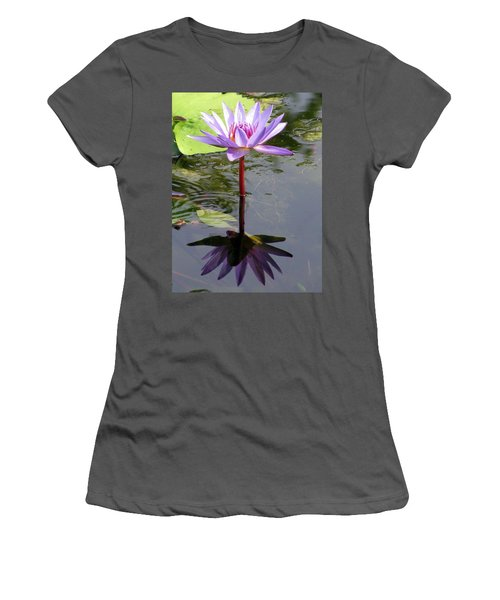 Water Lily - Shaded Women's T-Shirt (Athletic Fit)