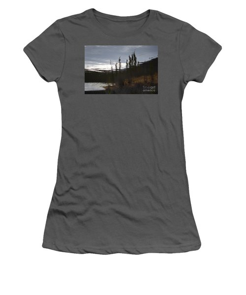 Women's T-Shirt (Junior Cut) featuring the photograph Water Paint by Brian Boyle