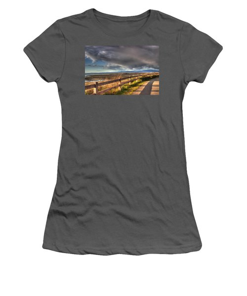 Waterfront Walkway Women's T-Shirt (Junior Cut) by Randy Hall