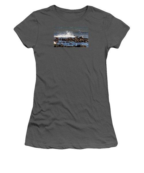 Waves Wind And Whitecaps Women's T-Shirt (Junior Cut) by John Telfer