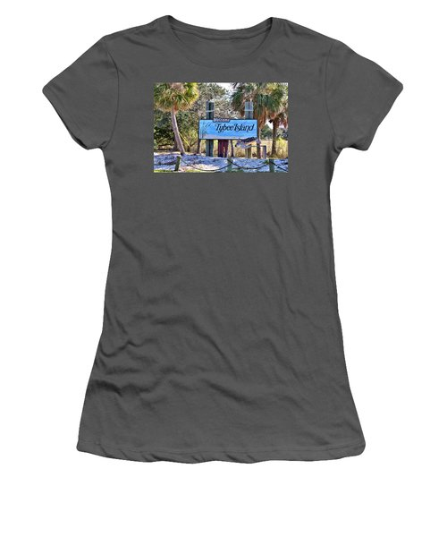 Welcome To Tybee Women's T-Shirt (Junior Cut) by Gordon Elwell