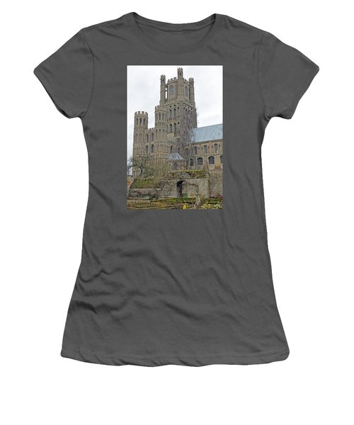 West Tower Of Ely Cathedral  Women's T-Shirt (Athletic Fit)