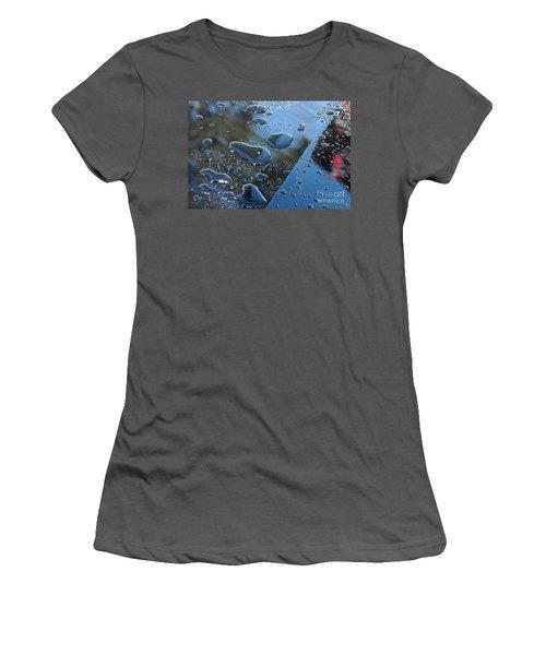 Wet Car Women's T-Shirt (Junior Cut) by Randi Grace Nilsberg