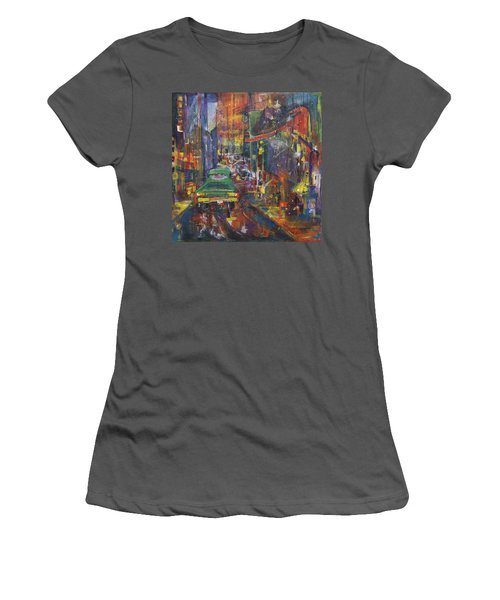 Wet China Lights Women's T-Shirt (Junior Cut) by Leela Payne