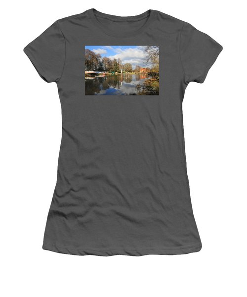Wey Canal Surrey England Uk Women's T-Shirt (Athletic Fit)