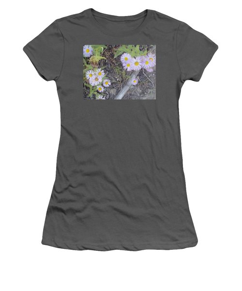 Women's T-Shirt (Junior Cut) featuring the photograph White In The Wild by Fortunate Findings Shirley Dickerson