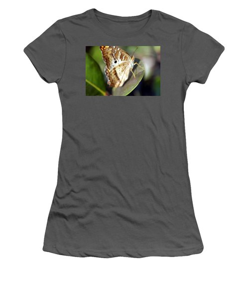 Women's T-Shirt (Junior Cut) featuring the photograph White Peacock Butterfly by Greg Allore