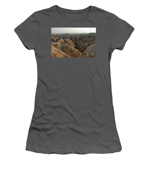 White River Valley Overlook Badlands National Park Women's T-Shirt (Athletic Fit)