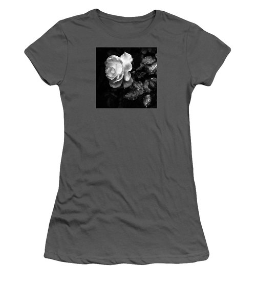 White Rose Full Bloom Women's T-Shirt (Athletic Fit)