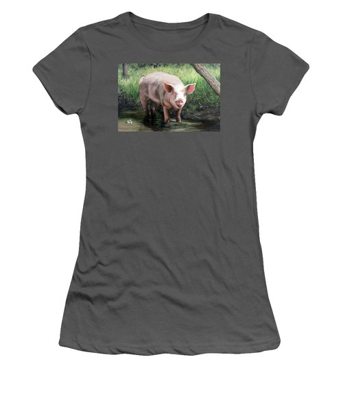 Wilbur In His Woods Women's T-Shirt (Athletic Fit)