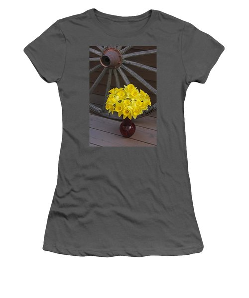 Women's T-Shirt (Junior Cut) featuring the photograph Wild West Daffodils by Diane Alexander