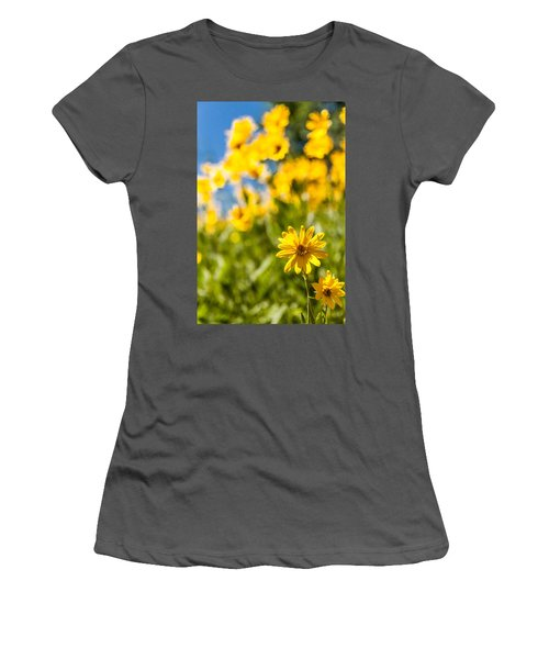 Wildflowers Standing Out Abstract Women's T-Shirt (Athletic Fit)