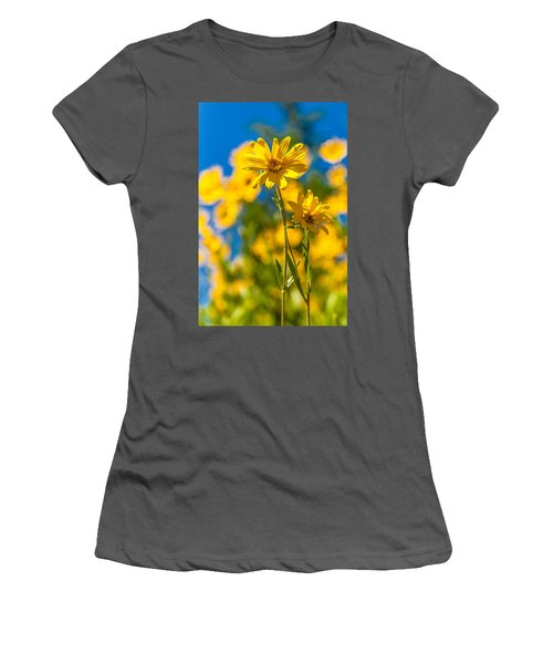 Wildflowers Standing Out Women's T-Shirt (Athletic Fit)