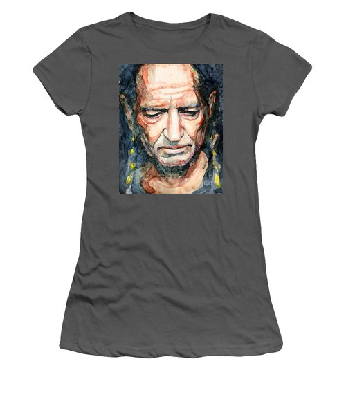 Willie Nelson  Women's T-Shirt (Athletic Fit)