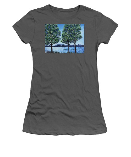 Wind In The Trees Women's T-Shirt (Junior Cut) by Penny Birch-Williams