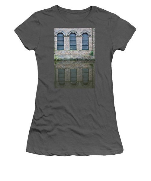 Windows Reflected In Water Women's T-Shirt (Athletic Fit)