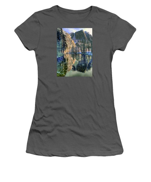 Winter Falls Women's T-Shirt (Athletic Fit)