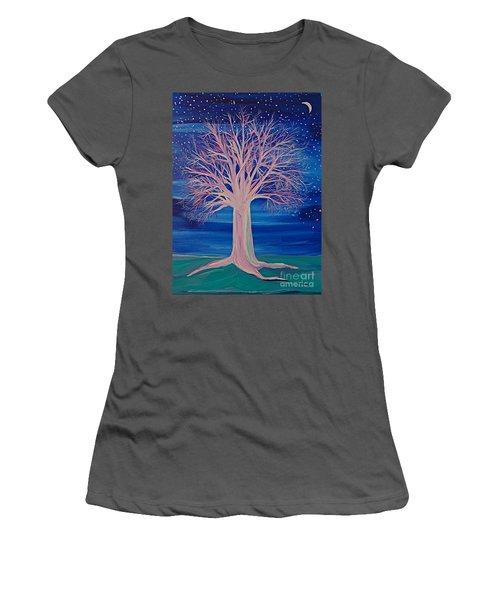 Winter Fantasy Tree Women's T-Shirt (Athletic Fit)