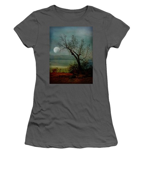 Winter Moon Women's T-Shirt (Athletic Fit)