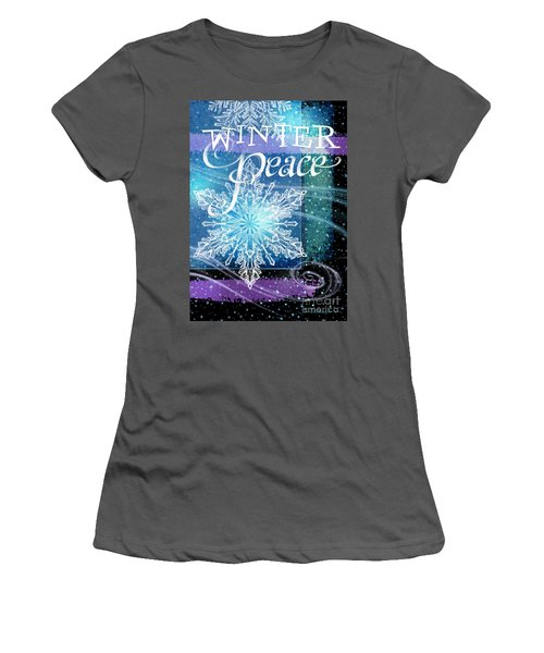 Winter Peace Greeting Women's T-Shirt (Athletic Fit)