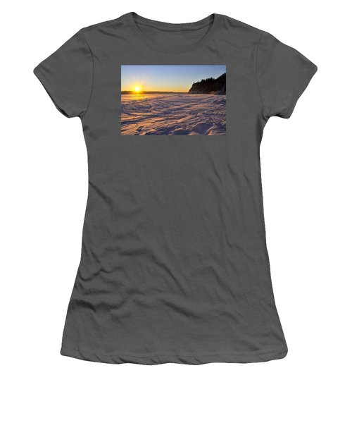 Winter Solstice Women's T-Shirt (Junior Cut) by Cathy Mahnke