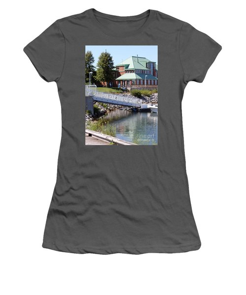 Women's T-Shirt (Junior Cut) featuring the photograph Winthrop Harbor Shore by Debbie Hart