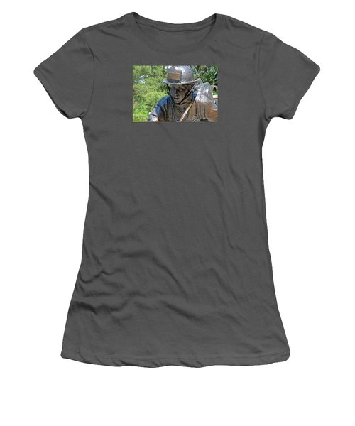 Women's T-Shirt (Junior Cut) featuring the photograph Wisconsin State Firefighters Memorial 3  by Susan  McMenamin