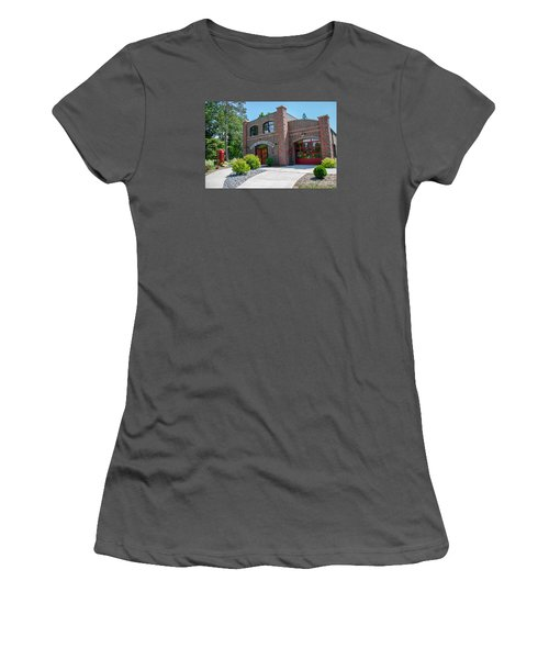Women's T-Shirt (Junior Cut) featuring the photograph Wisconsin State Firefighters Memorial 6 by Susan  McMenamin
