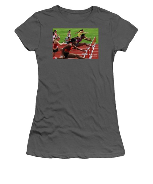 Womens Hurdles 3 Women's T-Shirt (Athletic Fit)