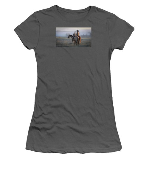 Wyoming Ranch Women's T-Shirt (Junior Cut) by Diane Bohna