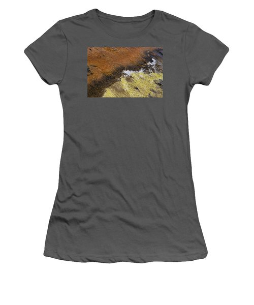 Yellow And Orange Converging Women's T-Shirt (Athletic Fit)