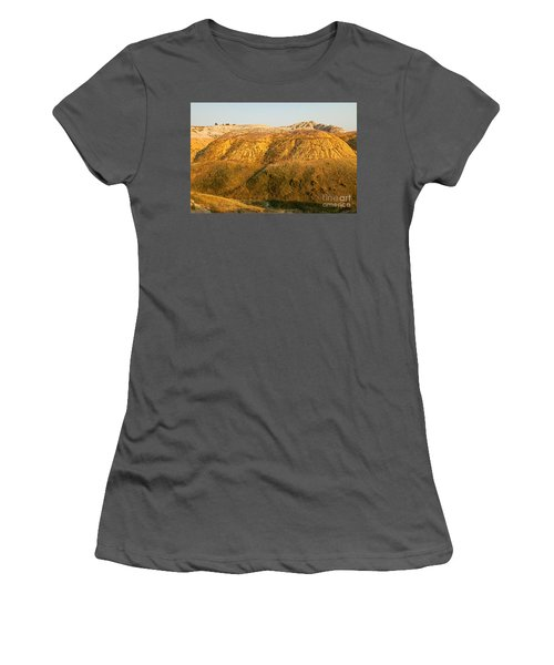 Yellow Mounds Overlook Badlands National Park Women's T-Shirt (Athletic Fit)