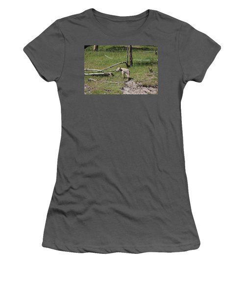 Yellowstone Coyote Women's T-Shirt (Athletic Fit)