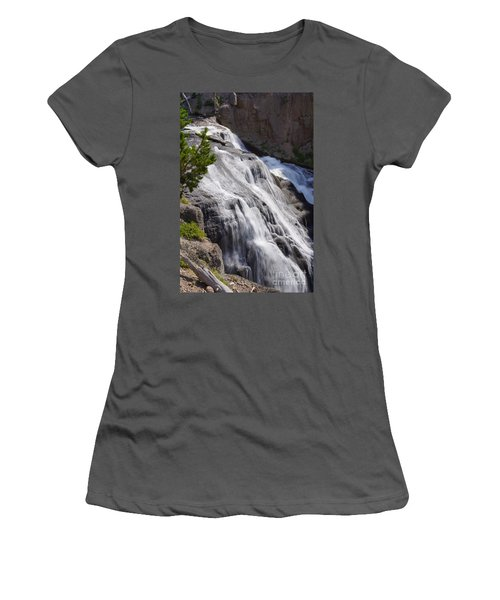 Yellowstone Gibbon Falls Women's T-Shirt (Athletic Fit)