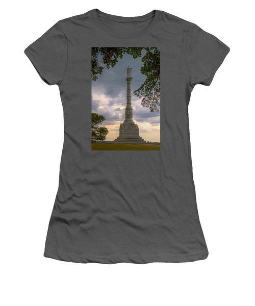 Yorktown Victory Monument Women's T-Shirt (Junior Cut) by Jerry Gammon