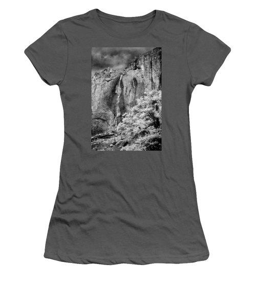 Women's T-Shirt (Junior Cut) featuring the photograph Yosemite Falls by Mark Greenberg
